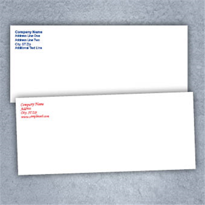 Color Text Only- Business Envelopes
