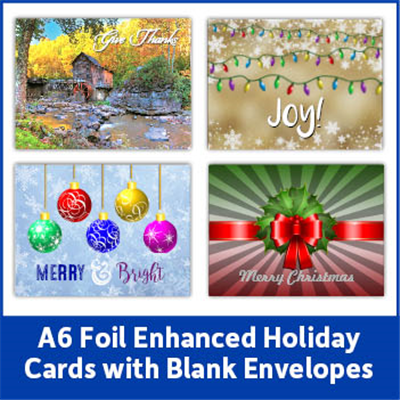 Foil Enhanced Holiday Card with Blank Envelope
