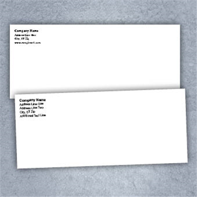 Black Text Only- Business Envelopes